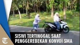 Viral Video Polisi Gerebek Konvoi Kelulusan SMA, Siswi Ini Justru Ditinggalkan Temannya