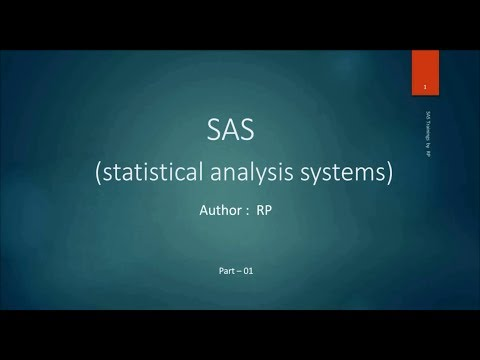 SAS Online Training - Introduction to SAS software (Part-1) - YouTube
