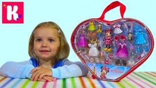 Набор Минни Маус с платьями/ распаковка игрушки