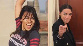 Alexandria Ocasio Cortez Dances Again Outside Her Office