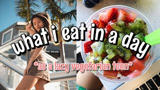 What I REALLY Eat In A Day As A LAZY Vegetarian Teen | Vanessa Nagoya