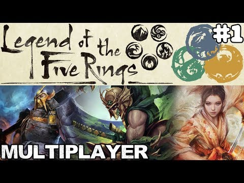 LEGEND OF THE FIVE RINGS: THE CARD GAME Multiplayer #1 | Crab vs Dragon vs Phoenix