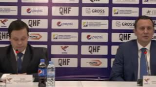ОЧРК 2019/2020 Пресс-конференция тренеров после двух матчей «Хумо-2» – «Темиртау»,