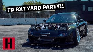FD RX7 YARD PARTY!! VIN & DAN FIRST TIME DRIVING A ROTARY