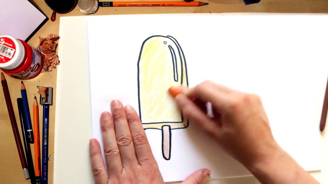 ????⚡????Como dibujar un helado Polo, o una Paleta facil - dibujos de verano