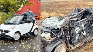 I destroy a brand new smart car in 3 minutes flat