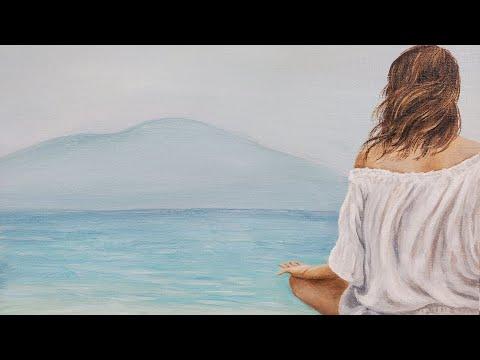Woman on the Beach Acrylic Painting LIVE Tutorial