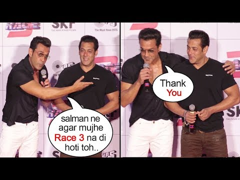 Download Bobby Deol Breaks Down Thanking Salman Khan For Saving His Career At Race 3 Trailer Launch HD Video