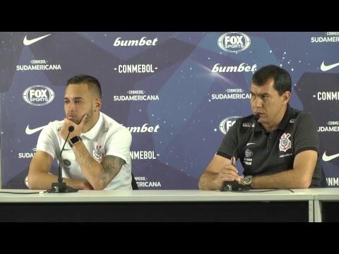 Fábio Carille e Maycon comentam empate do Corinthians
