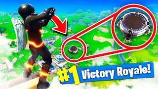 The LAUNCH PAD LEAP OF FAITH In Fortnite: Battle Royale!