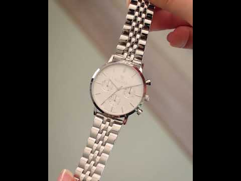 Renard Elite 35.5 Chrono ladies watch silver/white