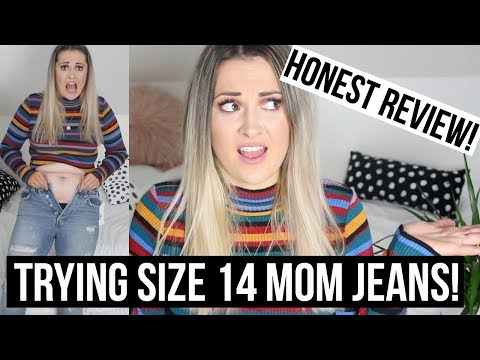 TRYING SIZE 14 JEANS (MOM) – HONEST REVIEW!!! //Gem Lo Valentine