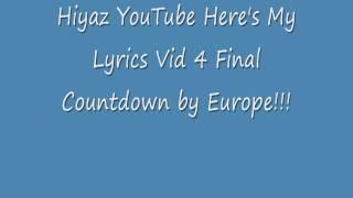 The Final Countdown Lyrics!