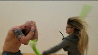 Gym chick vs. Mma guy