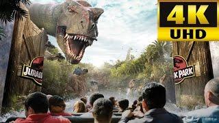 JURASSIC PARK RIDE 4K POV Universal Studios Orlando Florida
