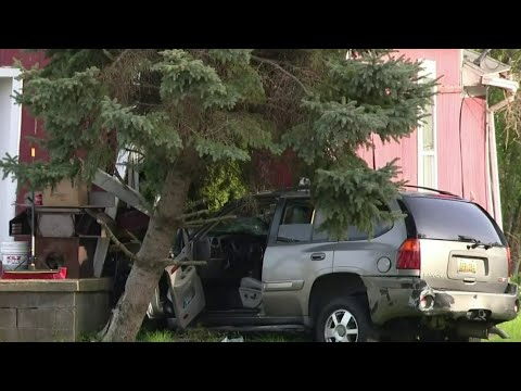 SUV crashes into Inkster home, ruptures gas line
