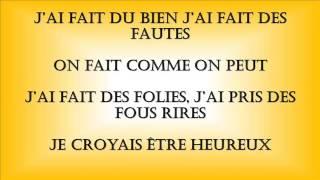 Christophe Mae il est ou le bonheur parole/lyric