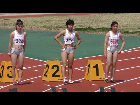 群馬県高校総体中北部地区予選 女子100m 1組 Interscholastic Track meet of H.S. in Mid North Gunma Women 100m Prelims 1