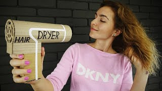 DIY Working Hair Dryer from Cardboard at Home