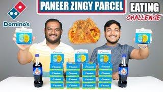 DOMINO'S PANEER ZINGY PARCEL EATING CHALLENGE   Zingy Parcel Eating Competition   Food Challenge