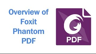 Foxit PhantomPDF – video review