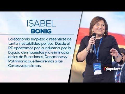 Isabel Bonig: La economía empieza a resentirse de tanta inestabilidad política.