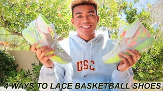 4 WAYS TO LACE YOUR BASKETBALL SHOES