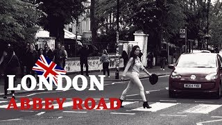 London Abbey Road crossing - Abbey Road interview with the Beatles fans from the globe