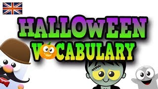 VOCABULARIO DE HALLOWEEN  - APRENDE INGLÉS CON MR PEA   ENGLISH FOR KIDS