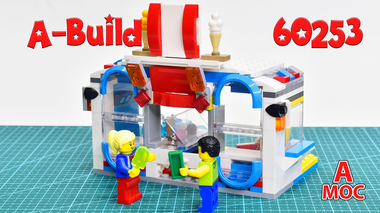LEGO 60253 ICE Cream Cafe Alternative build (A MOC)