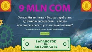 Бизнес-тема № 1 Проект 9mln com. Моментальность финансовых поступлений. Абсолютные гарантии от системы 9mln!