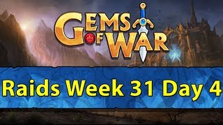 ⚔️ Gems of War Raids | Week 31 Day 4 | Diabolist Class and New Mythic + Bounty Hunter Tomorrow! ⚔️