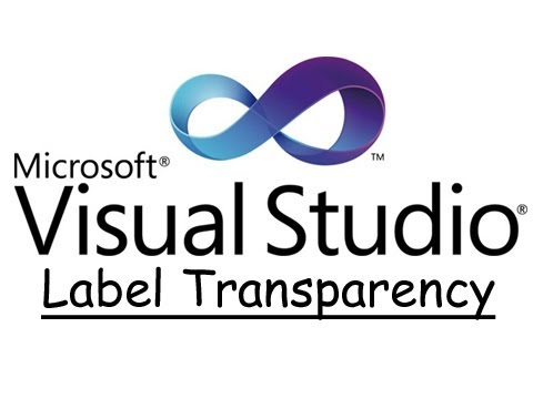 VB.NET - How to make a label background transparent.