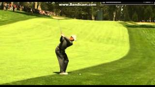 Tiger Woods awesome Stinger Punch Draw w 7i at the US Open Swing