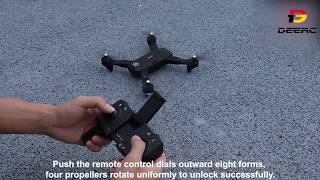 DEERC S167 Drone Operating Video