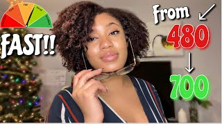 RAISE YOUR CREDIT SCORE 250 POINTS FAST!| EASY TIPS TO IMPROVE YOUR CREDIT SCORE ASAP + MY MISTAKES