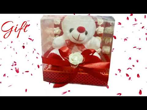 Cute teddy gift box