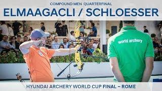 Demir Elmaagacli v Mike Schloesser – Compound Men's Quarterfinal   Rome 2017