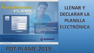 TUTORIAL- registro PDT PLAME PLANILLA ELECTRONICA