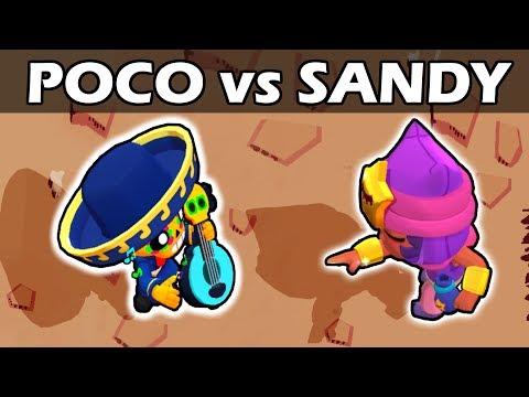 POCO vs SANDY | 1vs1 | Brawl Stars
