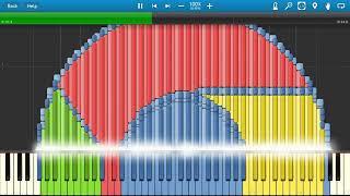 GOOGLE CHROME Synthesia MIDI Art