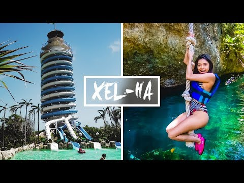 CRAZY WATERSLIDE EXPERIENCE!! XEL-HA 2018