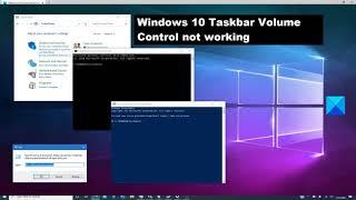 Windows 10 Taskbar Volume Control not working