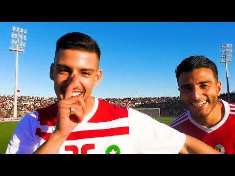 Voetballer Touzani in Marokko met bekende rappers en voetbal legendes (video)