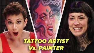 Tattoo Artist Vs. Painter: Body Paint Challenge