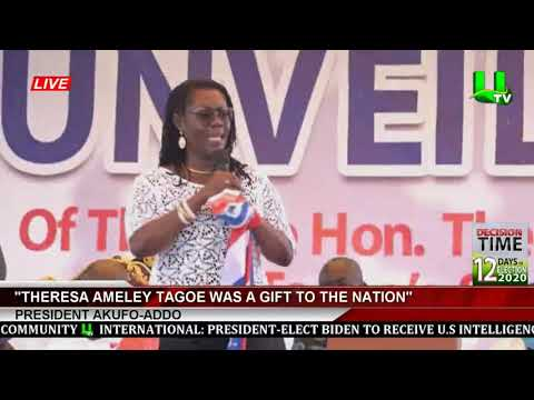 Theresa Ameley Tagoe Was A Gift To The Nation - Prez. Akufo-Addo