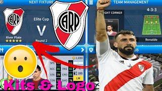 Dream League Soccer 2019   How To Make River Plate Team Kits & Logo 2019/2020