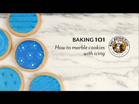 How to Marble Cookies with Icing