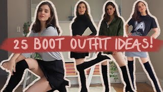 25 WAYS TO STYLE OVER-THE-KNEE BOOTS! | Boot Outfit Ideas