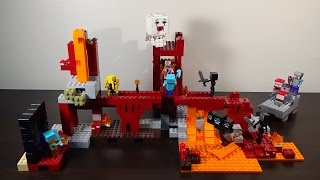Combination Review: LEGO Minecraft The Nether Fortress and The Wither - Sets 21122 and 21126